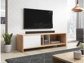 Televizní stolek SUE wotan/bílý