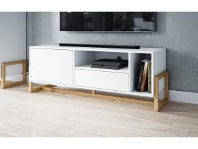 Televizní stolek OSLO bílý mat