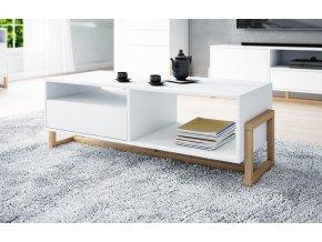 Konfereční stolek OSLO LE, bílý mat