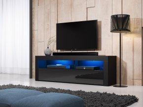 Televizní stolek MEX 160 černý, s LED osvětlením