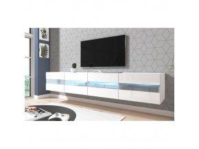 Televizní stolek RITA bílý 200 cm