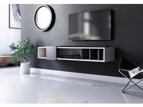 Televizní stolek RONDA bílá/antracit