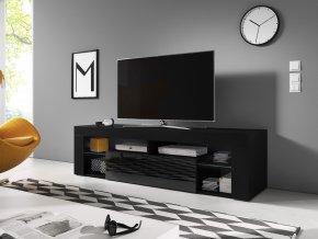 Televizní stolek Everest 160 cm černý/černý