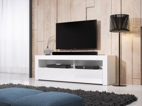 Televizní stolek MEX 160 cm bílý/bílý