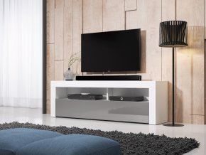 Televizní stolek MEX 160 cm bílý/šedý