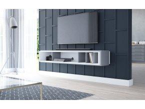 Nástěnná TV skříňka CINTA bílá/antracit