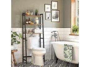 Regál za toaletu kovový rám 64 x 156 x 30 cm 2