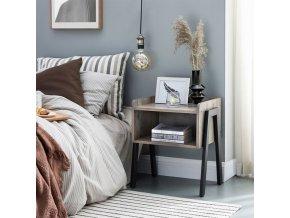 Noční stolek šedý3