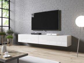 televizní stolek slide 200 bílý uspořádání