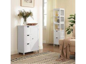 Koupelnová skříňka 3 zásuvky bílá 60 x 81 x 30 cm 2
