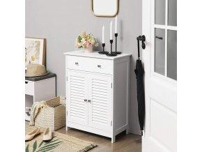 Koupelnová skříňka se zásuvkou bílá 60 x 80 x 30 cm 2