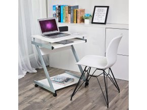 Psací stůl mobilní bílý 60 x 48 cm 2