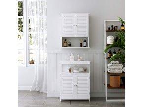 Závěsná skříňka bílá 60 x 70 x 20 cm 2