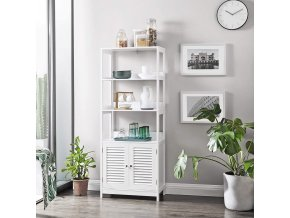 Koupelnový regál se skříňkou bílý 60 x 154 x 33 cm 2