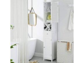 Koupelnová skříňka vysoká úzká bílá 32 x 170 x 30 cm 2