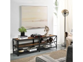 Televizní stolek industriální hnědý 140 x 50 x 39 cm 3