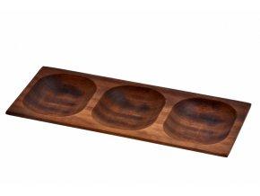 Lava wood - servírovací miska 15x35 cm