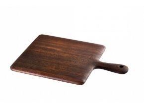 Lava wood - krájecí deska 25x35 cm s rukojetí