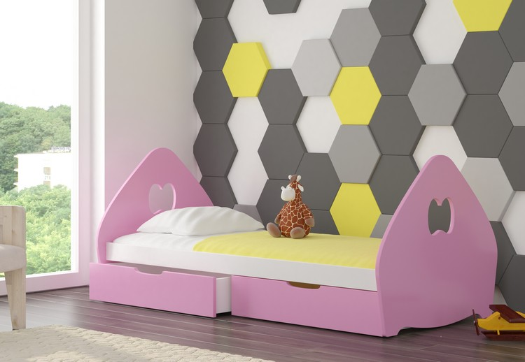 Dětská postel BALSA Provedení: Růžová