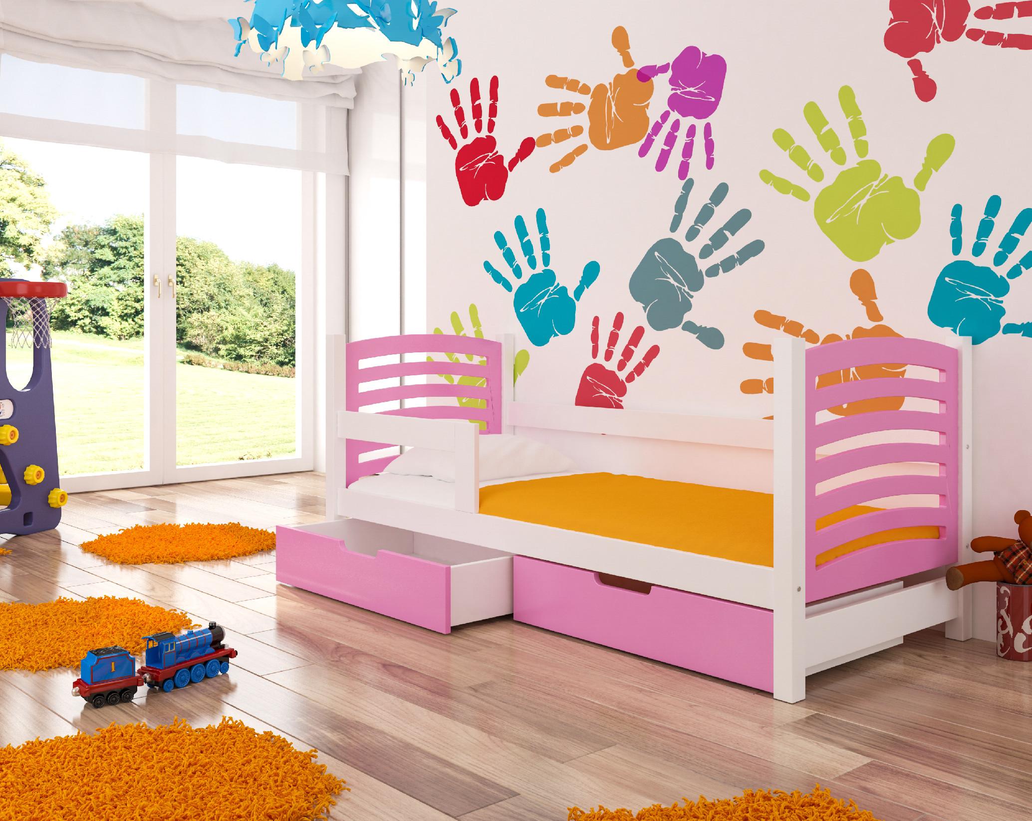 Dětská postel CAMINO Provedení: Růžová/bílá