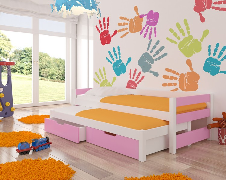 Dětská postel FRAGA Provedení: Růžová