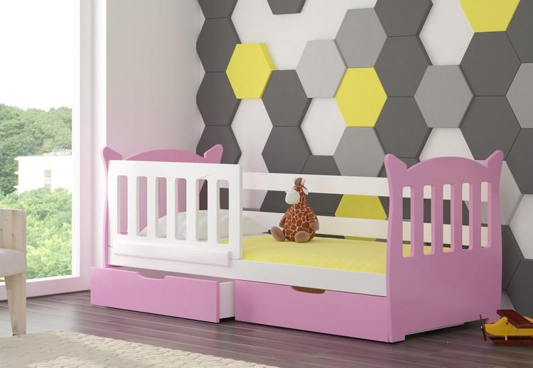 Dětská postel LENA Provedení: Růžová