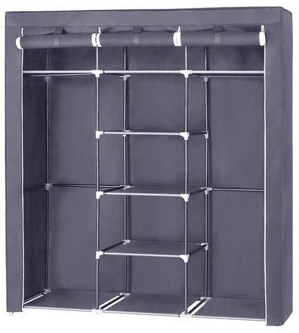 Šatní skříň, látková, šedá, 150x175 cm