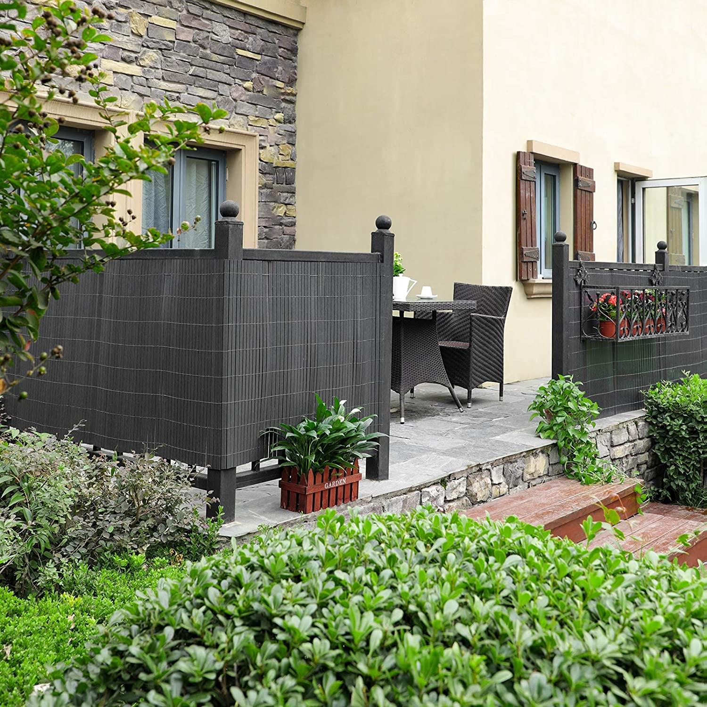 Stínící rohož na balkon 90x300 cm tmavě šedá
