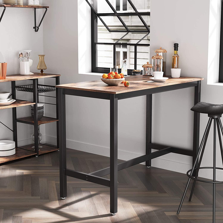 Barový jídelní stůl industriální hnědý 120 x 60 cm