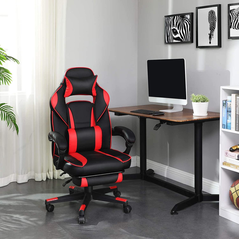 Kancelářské herní křeslo černé červené