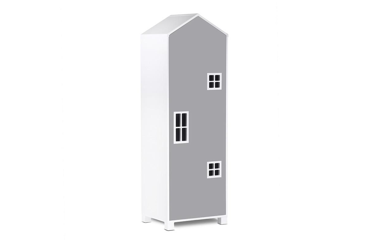 Dětská šatní skříň MIRUM 05 bílá šedá