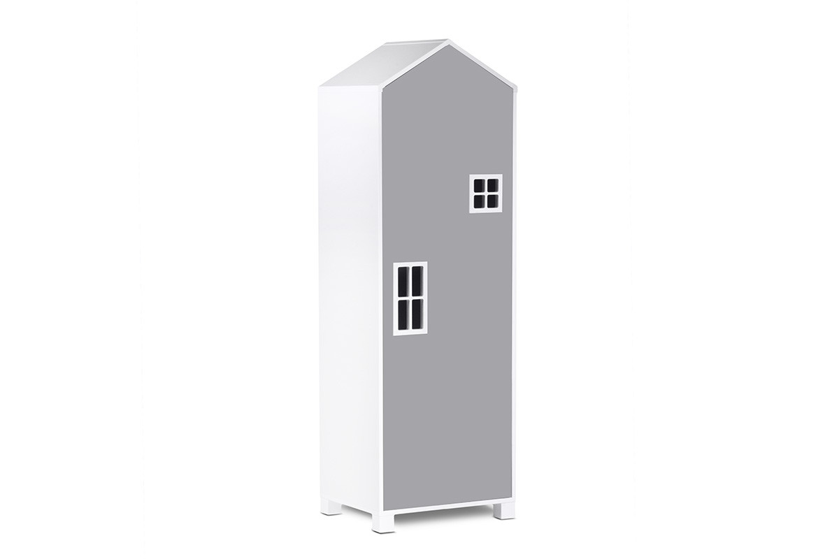 Dětská šatní skříň MIRUM 07 bílá šedá
