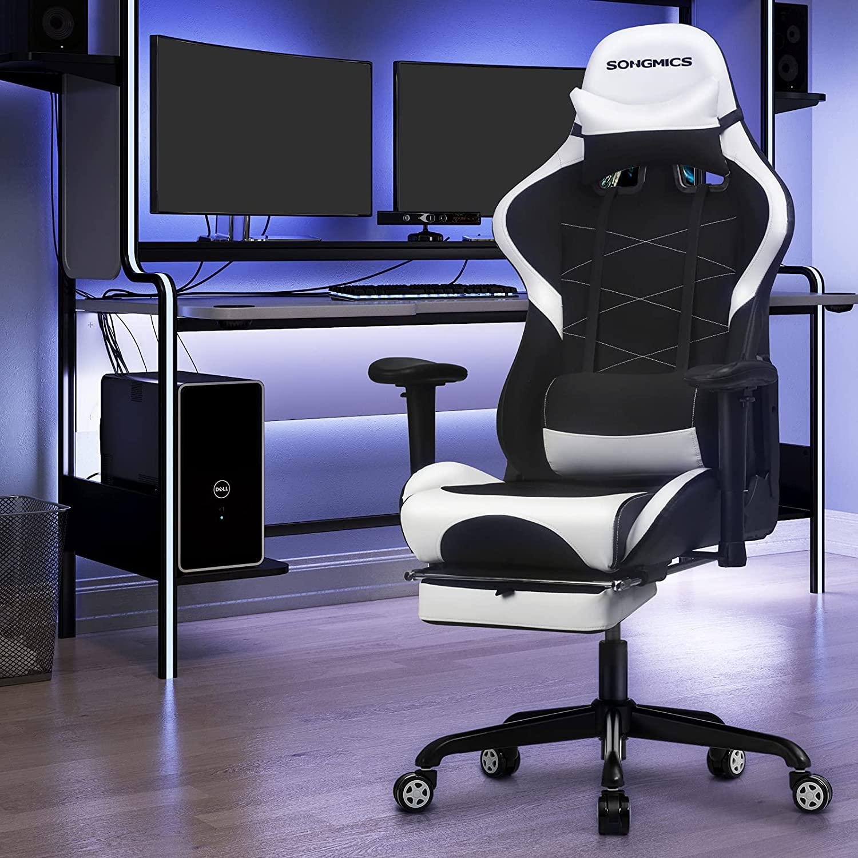 Kancelářské herní křeslo černé bílé