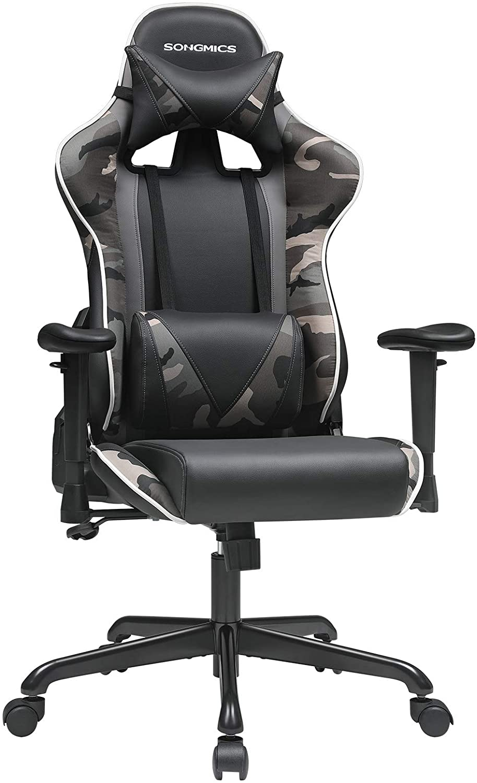 Kancelářské herní křeslo černé maskáč