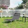 zahradní lehátko nosnost 150 kg šedé
