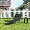 Zahradní lehátko černé 71 x 200 cm nosnost 150kg 2