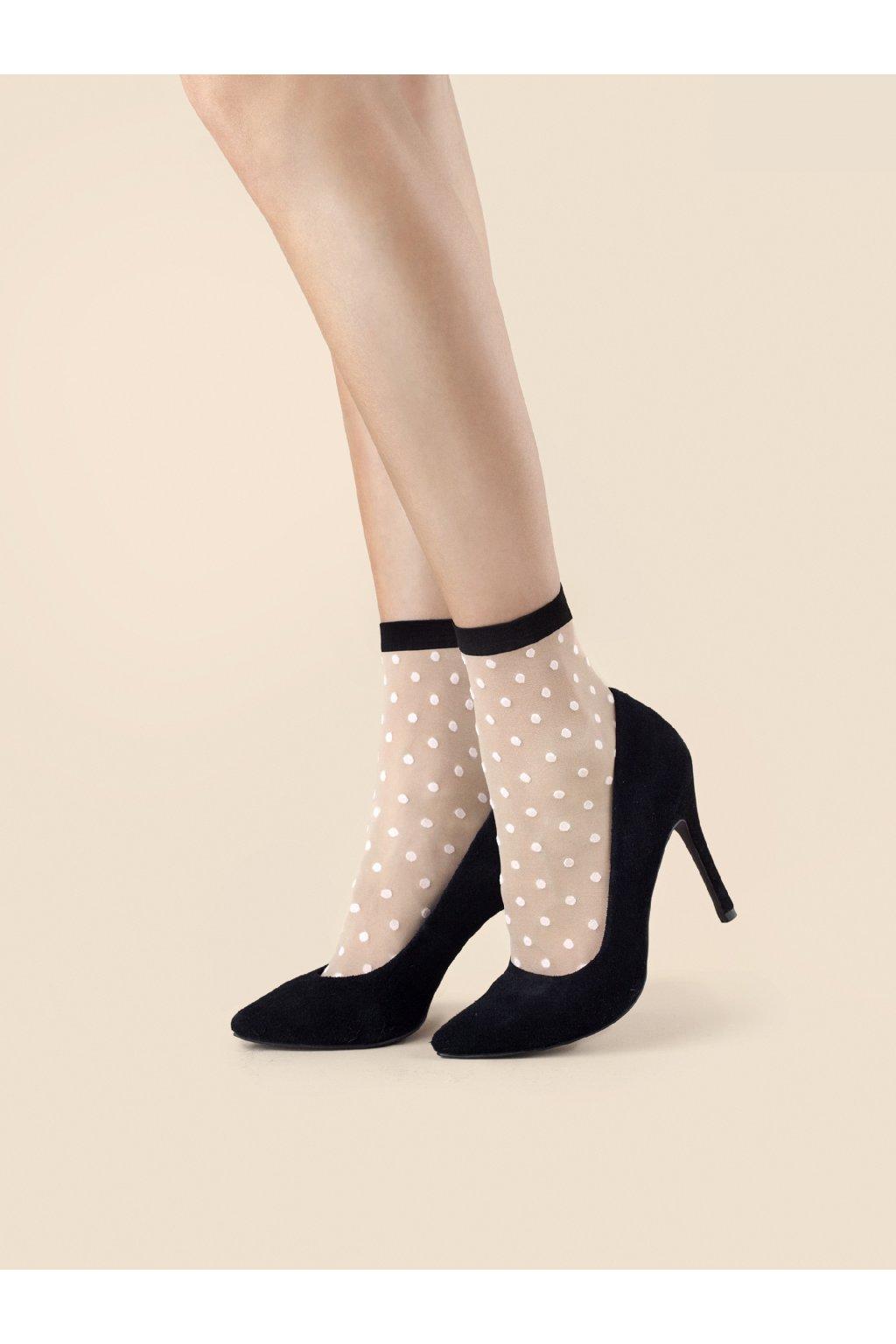 bodkované silonky, silonkové ponožky, vzorované ponožky cribs (1)