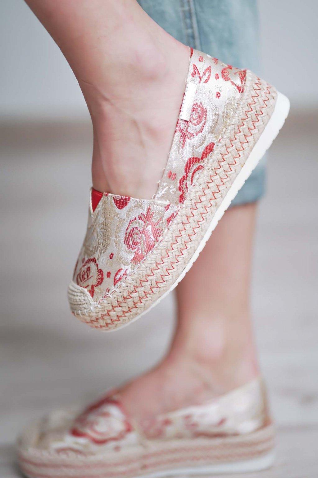 šľapky, papučky, papuče, espadrilky, spoločenska obuc, obuv na bežny deň, letná obuv, darček pre ňu, 088