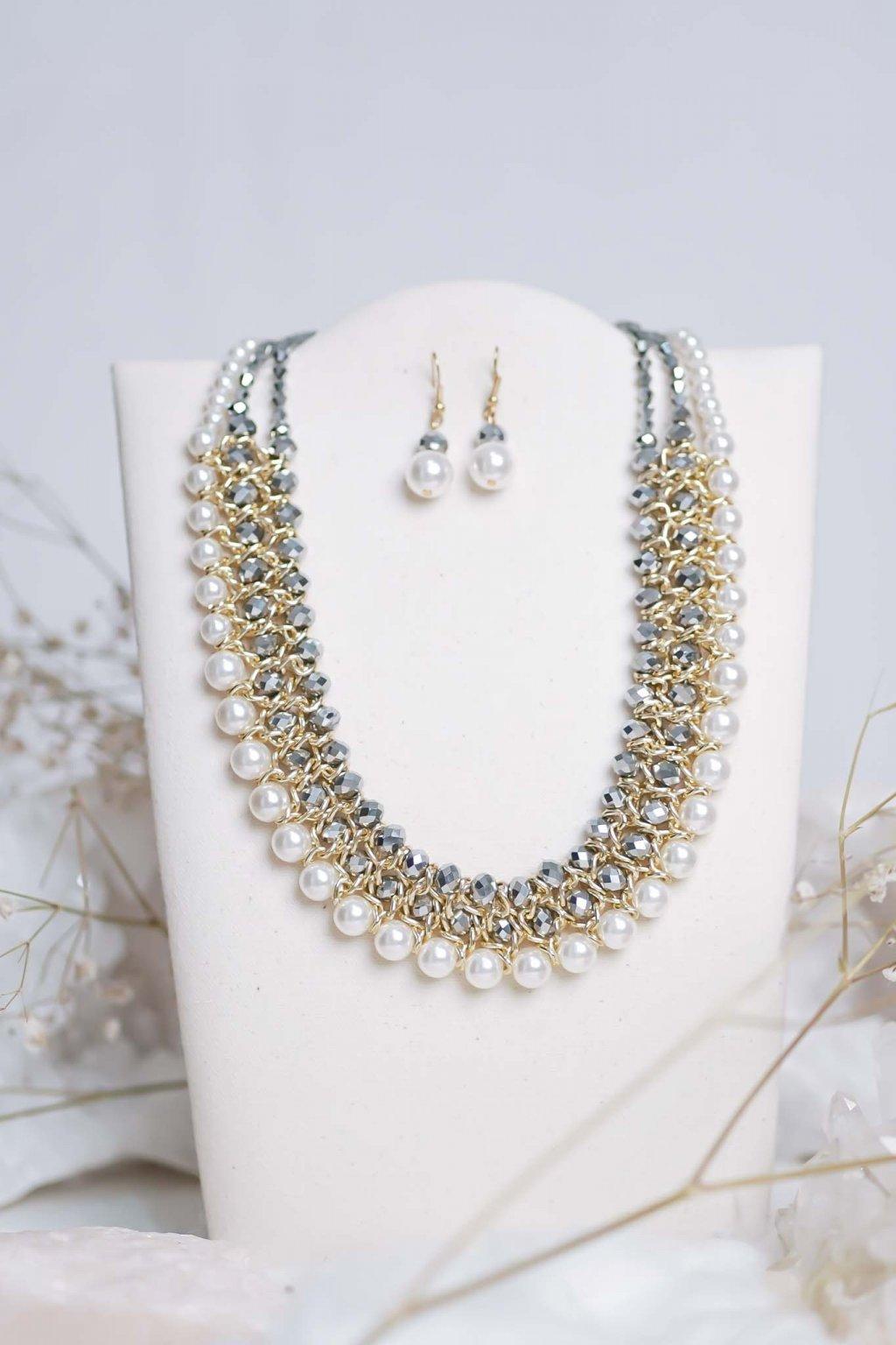 náhrdelník, šperk, spoločenská náhrdelník, náhrdelník na bežný deň, výrazný náhrdelník, jemný náhrdelník, šperky, náhrdelník na ples, svadbu, stužkovú 42