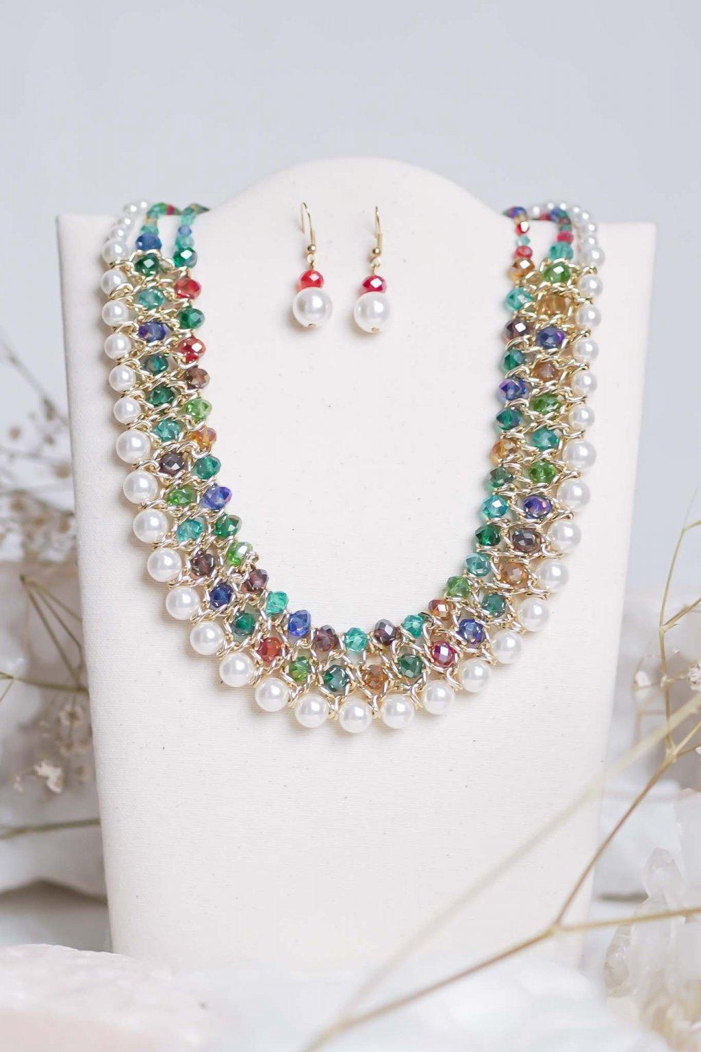 náhrdelník, šperk, spoločenská náhrdelník, náhrdelník na bežný deň, výrazný náhrdelník, jemný náhrdelník, šperky, náhrdelník na ples, svadbu, stužkovú 36