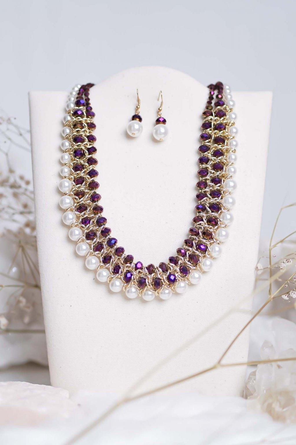 náhrdelník, šperk, spoločenská náhrdelník, náhrdelník na bežný deň, výrazný náhrdelník, jemný náhrdelník, šperky, náhrdelník na ples, svadbu, stužkovú 31