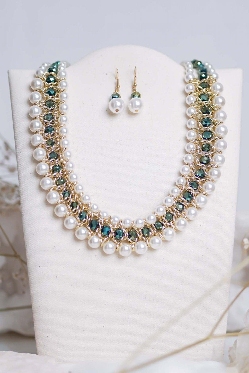 náhrdelník, šperk, spoločenská náhrdelník, náhrdelník na bežný deň, výrazný náhrdelník, jemný náhrdelník, šperky, náhrdelník na ples, svadbu, stužkovú 47