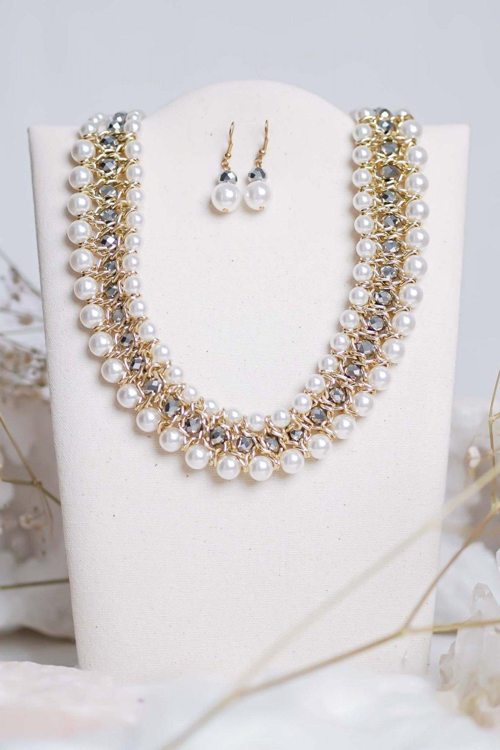 náhrdelník, šperk, spoločenská náhrdelník, náhrdelník na bežný deň, výrazný náhrdelník, jemný náhrdelník, šperky, náhrdelník na ples, svadbu, stužkovú 50