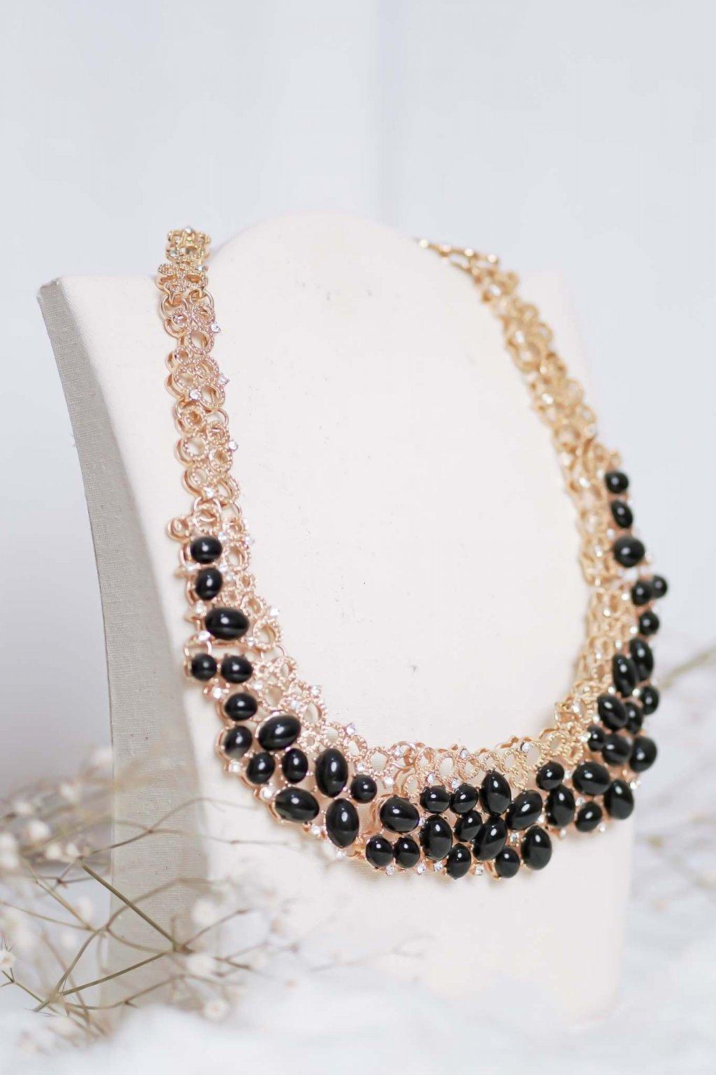 náhrdelník, šperk, spoločenská náhrdelník, náhrdelník na bežný deň, výrazný náhrdelník, jemný náhrdelník, šperky, náhrdelník na ples, svadbu, stužkovú 93