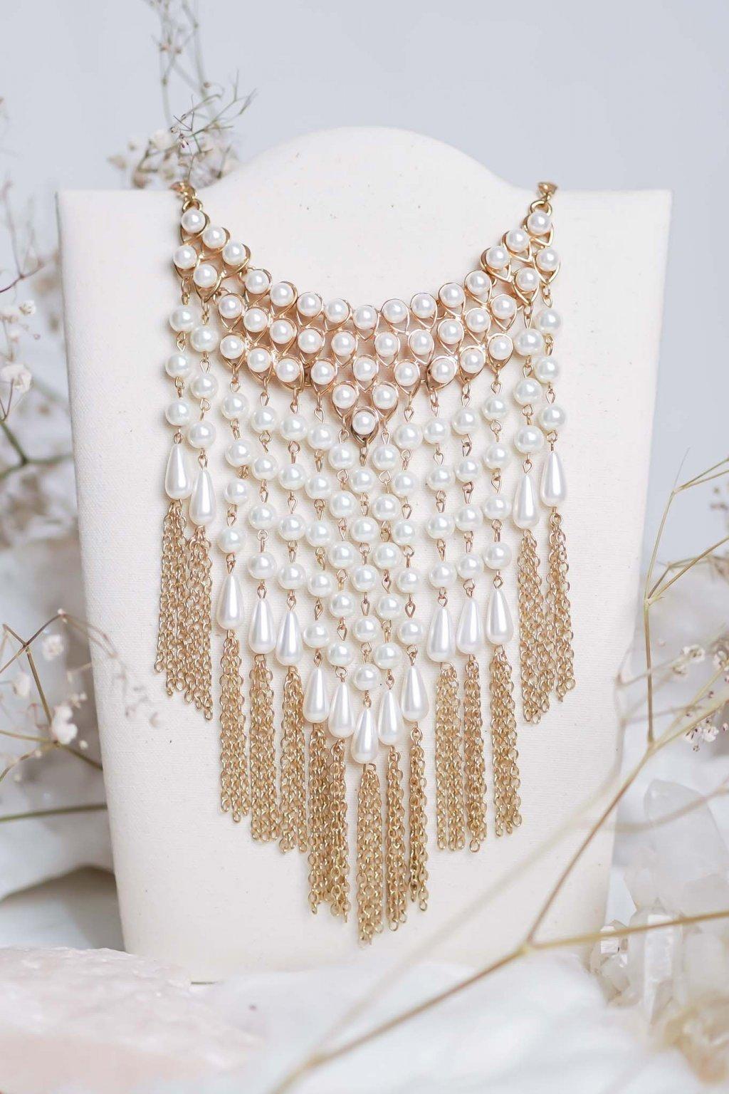náhrdelník, šperk, spoločenská náhrdelník, náhrdelník na bežný deň, výrazný náhrdelník, jemný náhrdelník, šperky, náhrdelník na ples, svadbu, stužkovú 09
