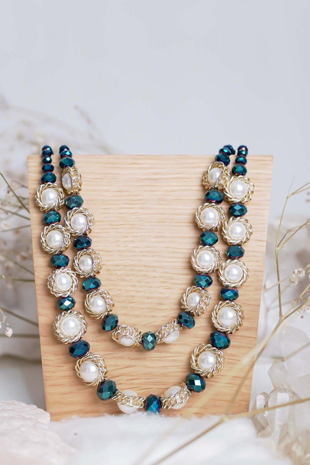 náhrdelník, šperk, spoločenská náhrdelník, náhrdelník na bežný deň, výrazný náhrdelník, jemný náhrdelník, šperky, náhrdelník na ples, svadbu, stužkovú 13