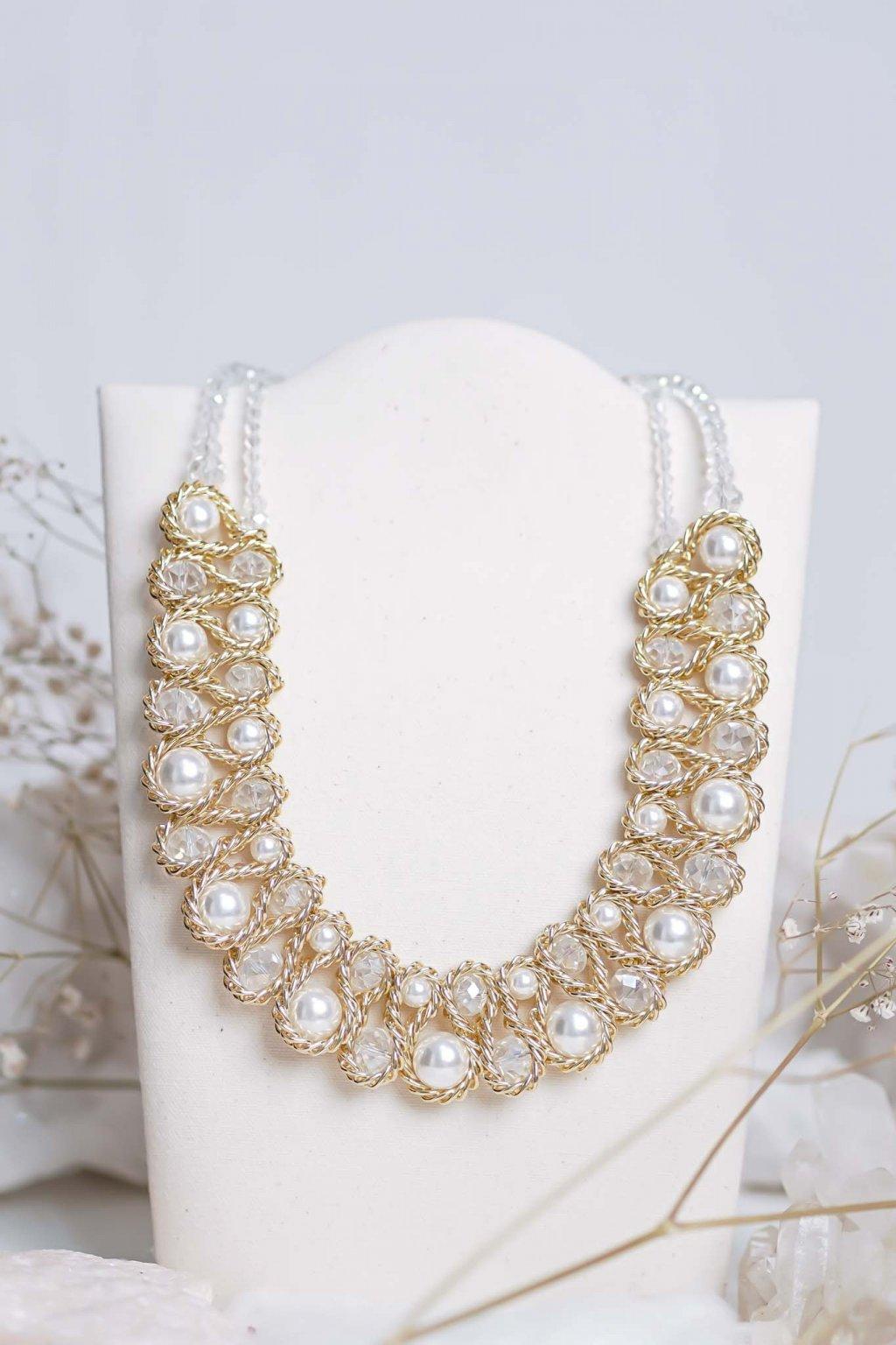 náhrdelník, šperk, spoločenská náhrdelník, náhrdelník na bežný deň, výrazný náhrdelník, jemný náhrdelník, šperky, náhrdelník na ples, svadbu, stužkovú 26