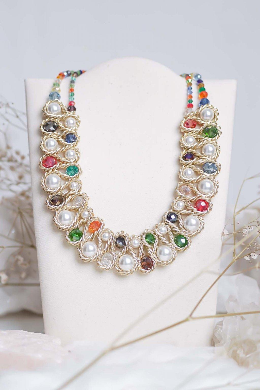 náhrdelník, šperk, spoločenská náhrdelník, náhrdelník na bežný deň, výrazný náhrdelník, jemný náhrdelník, šperky, náhrdelník na ples, svadbu, stužkovú 28