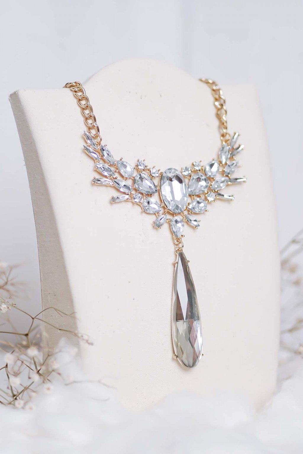 náhrdelník, šperk, spoločenská náhrdelník, náhrdelník na bežný deň, výrazný náhrdelník, jemný náhrdelník, šperky, náhrdelník na ples, svadbu, stužkovú 84