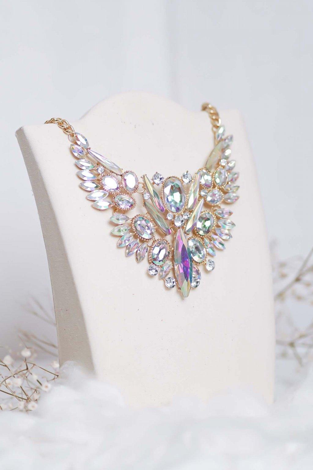 náhrdelník, šperk, spoločenská náhrdelník, náhrdelník na bežný deň, výrazný náhrdelník, jemný náhrdelník, šperky, náhrdelník na ples, svadbu, stužkovú 75